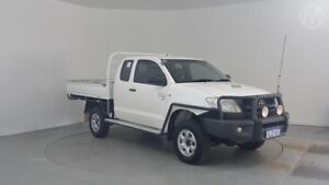 2010 Toyota Hilux KUN26R MY10 SR Glacier White 5 Speed Manual Cab Chassis Perth Airport Belmont Area Preview