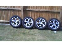 ford transit custom romac cobra 18inch alloy wheels in grey brand new with new 235/50/18 tyres.