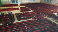Installation plancher chauffant à l'eau ou électrique