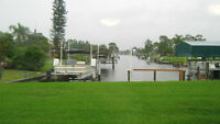 Port Charlotte Rental Home on Canal with boat lift.