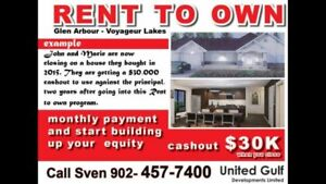 RENT to OWN BRAND new HOUSES