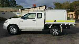 2013 Toyota Hilux KUN26R MY12 SR (4x4) White 5 Speed Manual X Cab Cab Chassis Melrose Park Mitcham Area Preview