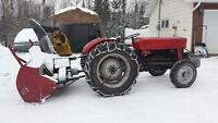 1968 Massey Ferguson 135 Tractor and Blower
