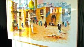 Arabian Market-day Scene Oil Painting