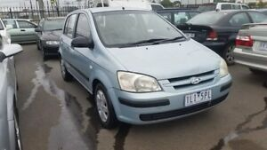 2003 Hyundai Getz TB GL Blue 5 Speed Manual Hatchback Cheltenham Kingston Area Preview