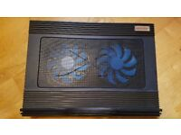 Adjustable laptop cooling pad 2 fans USB powered