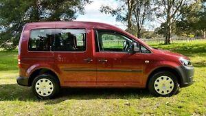 2011 Volkswagen Caddy 2K MY12 TDI250 Wagon Life SWB DSG Startline Lava Red 7 Speed