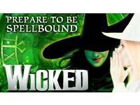Wicked theatre show single ticket for sale.