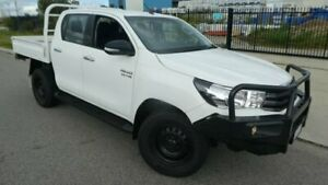 2015 Toyota Hilux GUN126R SR Double Cab Glacier White 6 Speed Sports Automatic Cab Chassis Bassendean Bassendean Area Preview