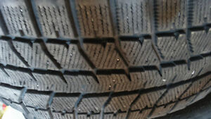 2Gently Used Winter tires Bridgestone245/55R17 70%left 160$both