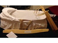 Moses basket with rocking stand (from Boots), great condition
