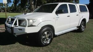 2010 Toyota Hilux KUN26R MY10 SR White 5 Speed Manual Utility Welshpool Canning Area Preview