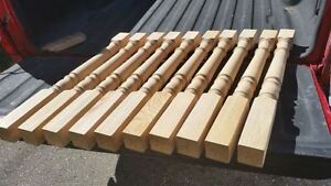 """10 New Solid Oak 2 3/4"""" x 33"""" Baluster Spindle Railing Posts"""