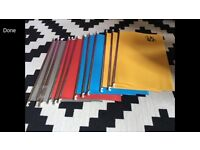 24 NEW Unused Suspension files and tabs for filing cabinet - multiple colours