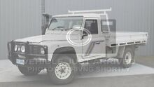 1999 Land Rover Defender 130 White 5 Speed Manual Cab Chassis Invermay Launceston Area Preview