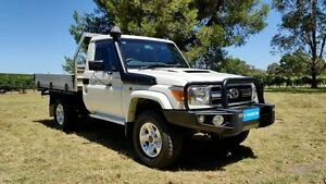2013 Toyota Landcruiser VDJ79R MY13 GXL White 5 Speed Manual Cab Chassis Tanunda Barossa Area Preview