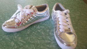 guess girls crome mirrored shoes