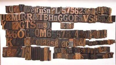 Antique Letterpress Wood Type 184 Pieces