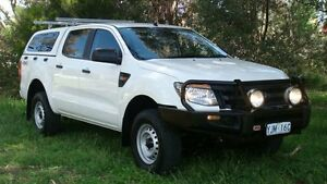 2013 Ford Ranger PX XL Double Cab White 6 Speed Sports Automatic Utility Oaks Estate Queanbeyan Area Preview