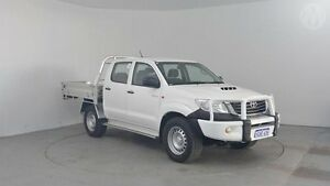 2012 Toyota Hilux KUN26R MY12 SR (4x4) Glacier White 4 Speed Automatic Dual Cab Pick-up Perth Airport Belmont Area Preview