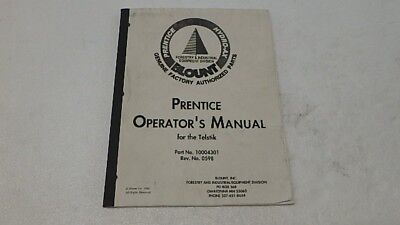 Prentice Telstik No. 10004301 Operators Manual Ci285