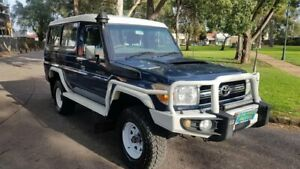 2011 Toyota Landcruiser VDJ78R 09 Upgrade Workmate (4x4) 3 Seat Blue 5 Speed Manual TroopCarrier Prospect Prospect Area Preview