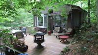 Hill top lake view cabin for rent monthly