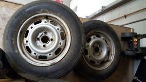 "FS: 14"" Steel Wheels Off An E30 BMW 4x100 Kitchener / Waterloo Kitchener Area image 2"