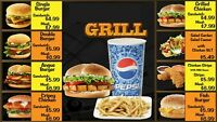 Digital Menu Boards for Restaurant, Cafe and Fast food