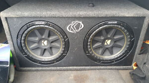 Two 10inch kicker subs & comp box & amp