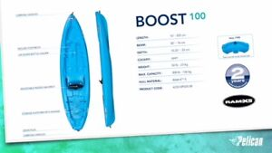 Pelican Boost 10 ft sit on top Kayak with Paddle on Sale $319.99