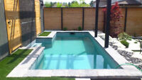 Inground concrete insulated pool