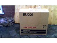honda eu22i petrol inverter generator brand new never been used.