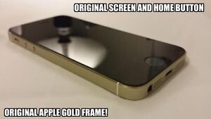 Gold iPhone 5S with Black Screen/Home Button, 16gb, Bell/Virgin