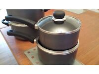 Tesco Cooking sauce pans 18cm , 20cm,( two handle pots only left to sell) £10. Electrical toastie