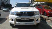2013 Toyota Hilux KUN26R MY14 SR5 (4x4) White 5 Speed Manual Dual Cab Pick-up Homebush Strathfield Area Preview