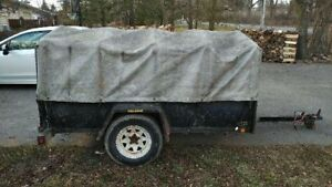 5x8 covered cargo trailer