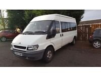 Ford Transit Minibus 2.4 ONLY 28000 MILES £4899 ONO