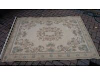 "Laura Ashley Rug, beige/duck egg blue, 72"" x 54"", excellent condition"