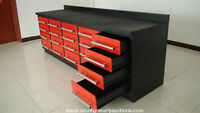 Immense table / Coffre à outils 20 tiroirs industrielle neuf
