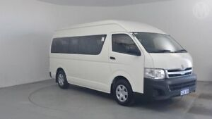 2012 Toyota Hiace KDH223R MY11 Commuter High Roof Super LWB Vanilla White 4 Speed Automatic Bus Perth Airport Belmont Area Preview