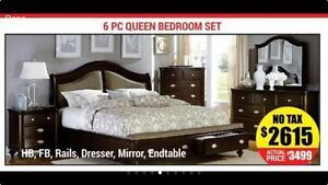 STORAGE BED SALE  SOLID WOOD 6PC QUEEN BEROOM SET ON SALE (AD 32)
