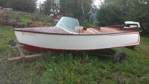 Nice Vintage Boat--Perfect Winter Project!!