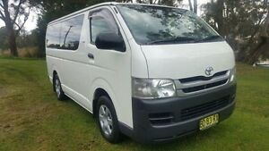 2009 Toyota Hiace TRH201R MY07 Upgrade LWB White 5 Speed Manual Van Tuggerah Wyong Area Preview