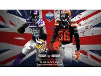 ***** NFL - Minnesota Vikings v Cleveland Browns - Twickenham Sun 29nd Oct *****