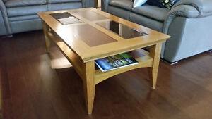 Table basse de salon en bois massif  50x27x18