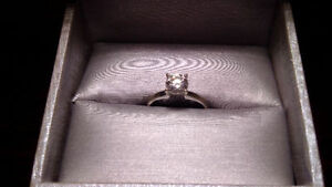Diamond Solitare Engagement Ring with Life Warranty