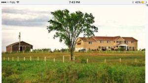 House for rent with  70 acres and outbuiling