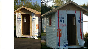Full size solid 6 x 8 Wood Shed for your dog, garden etc