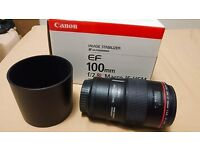 As NEW Canon EF 100mm F2.8 L Macro IS USM - UK Piece £600